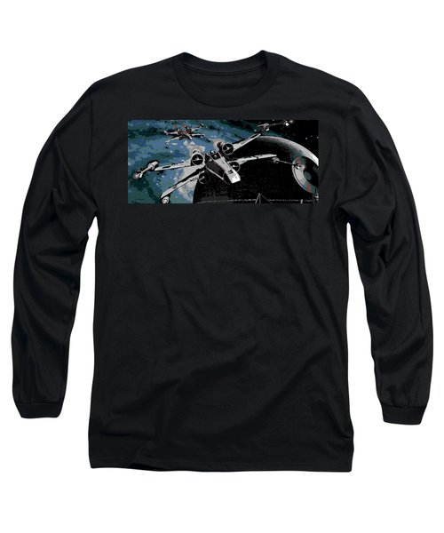 Space Long Sleeve T-Shirt by George Pedro