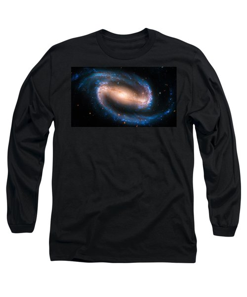Space Image Barred Spiral Galaxy Ngc 1300 Long Sleeve T-Shirt by Matthias Hauser