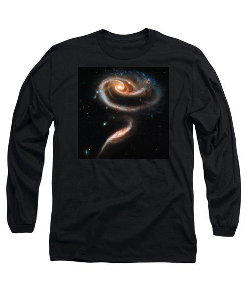 Space Image Galaxy Rose Long Sleeve T-Shirt