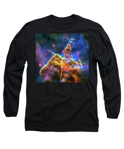 Space Image Mystic Mountain Carina Nebula Long Sleeve T-Shirt