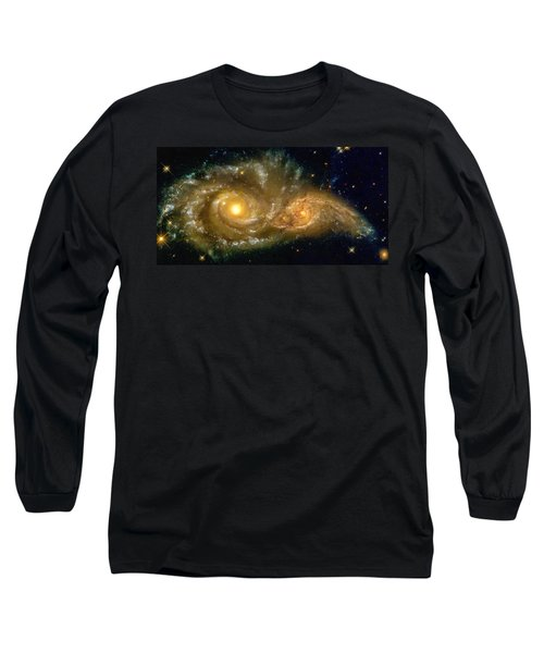 Space Image Spiral Galaxy Encounter Long Sleeve T-Shirt