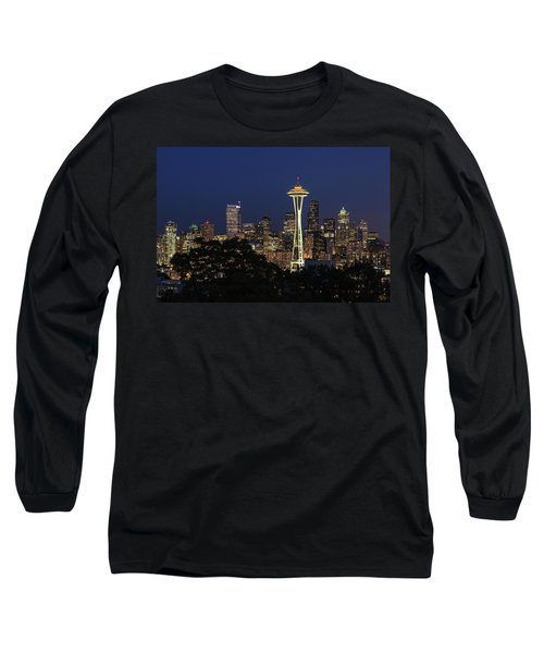 Space Needle Long Sleeve T-Shirt by David Chandler