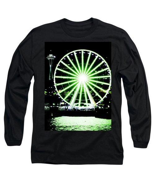 Space Needle Ferris Wheel Long Sleeve T-Shirt