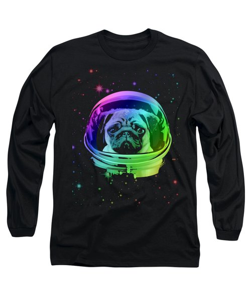 Space Pug Long Sleeve T-Shirt