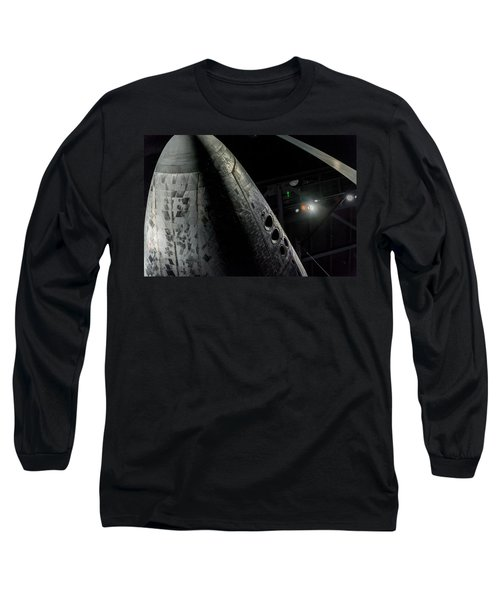 Space Shuttle Nose  Long Sleeve T-Shirt by David Collins