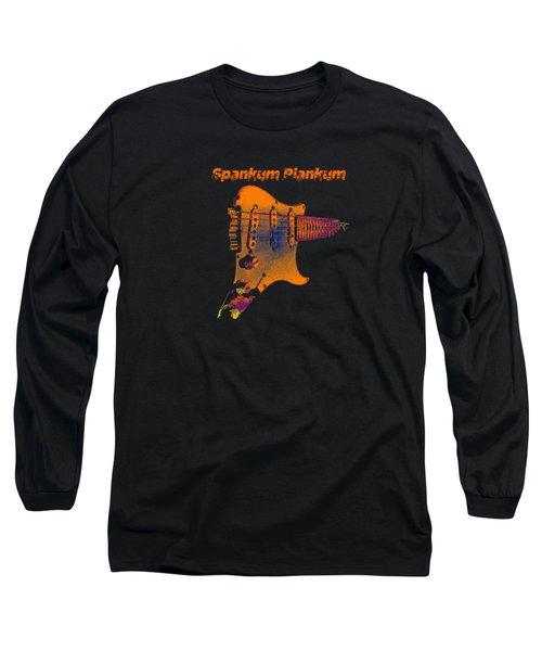 Long Sleeve T-Shirt featuring the digital art Spankum Plankum by Guitar Wacky