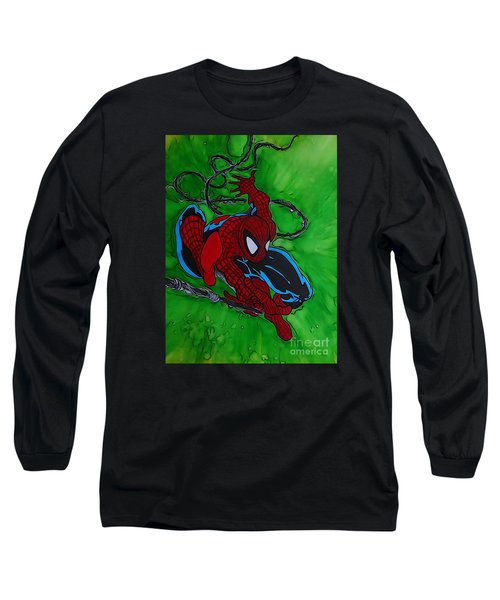 Spiderman 301 Illustration Edition Long Sleeve T-Shirt by Justin Moore