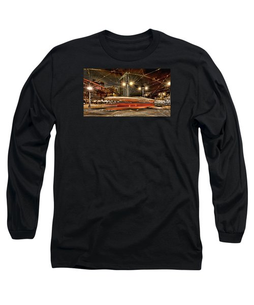 Long Sleeve T-Shirt featuring the photograph Spinning Trolley Car by Steve Siri