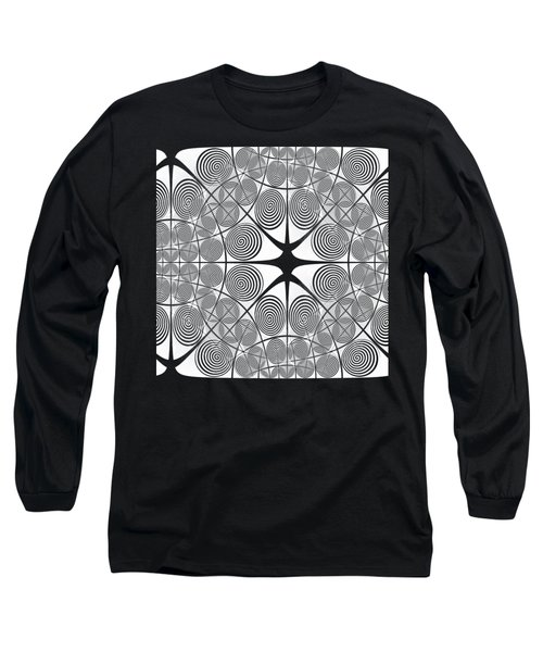 Spiral Abstract 7 Colour Choice Long Sleeve T-Shirt