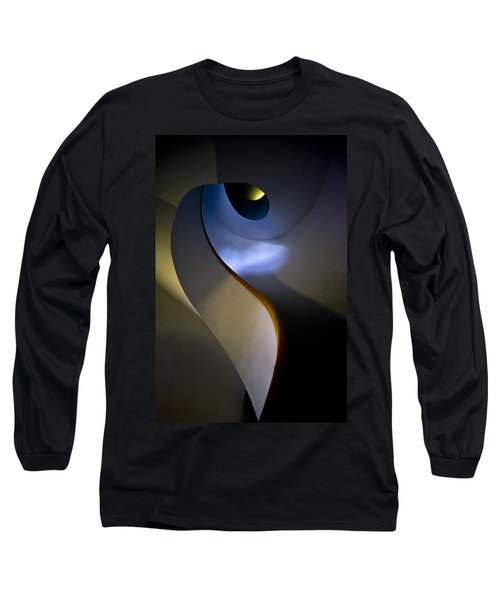 Spiral Concrete Modern Staircase Long Sleeve T-Shirt