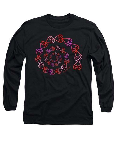 Spiral Of Hearts Long Sleeve T-Shirt