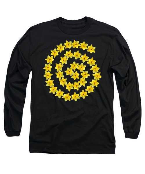 Long Sleeve T-Shirt featuring the photograph Spiral Symbol by Rachel Hannah
