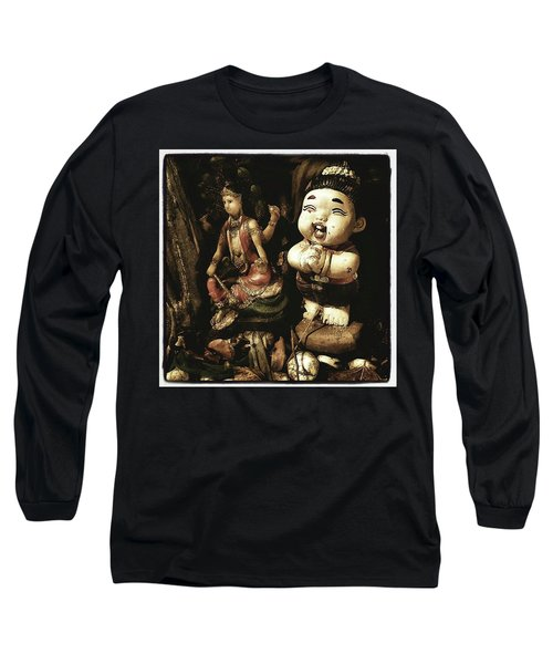 Long Sleeve T-Shirt featuring the photograph Spirit Cemetery. When A Business Or by Mr Photojimsf