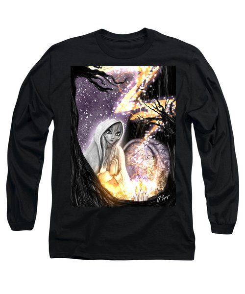 Long Sleeve T-Shirt featuring the painting Spiritual Ghost Fantasy Art by Raphael Lopez