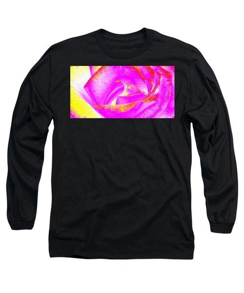 Splendid Rose Abstract Long Sleeve T-Shirt by Will Borden