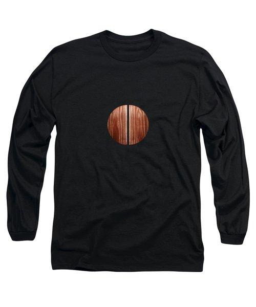 Split Circle Red Long Sleeve T-Shirt by YoPedro