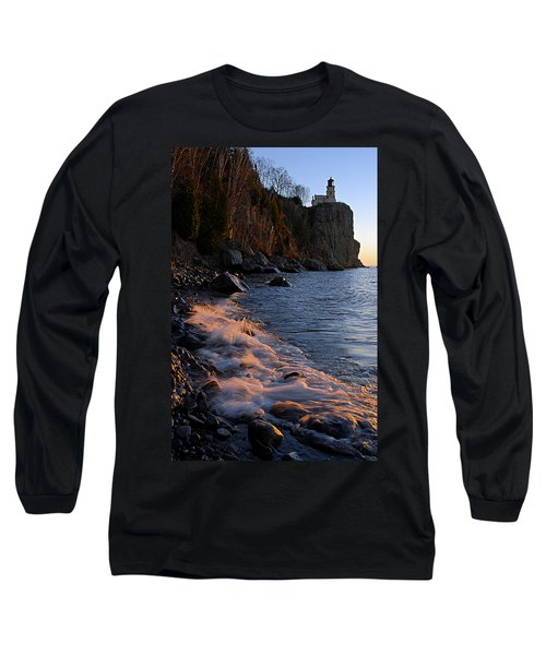 Split Rock Lighthouse At Dawn Long Sleeve T-Shirt