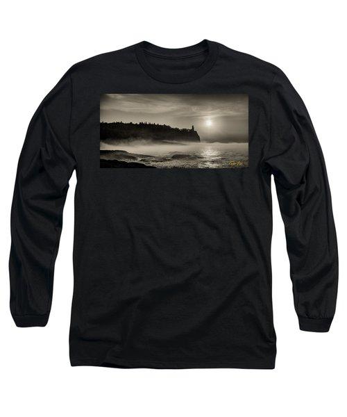 Split Rock Lighthouse Emerging Fog Long Sleeve T-Shirt