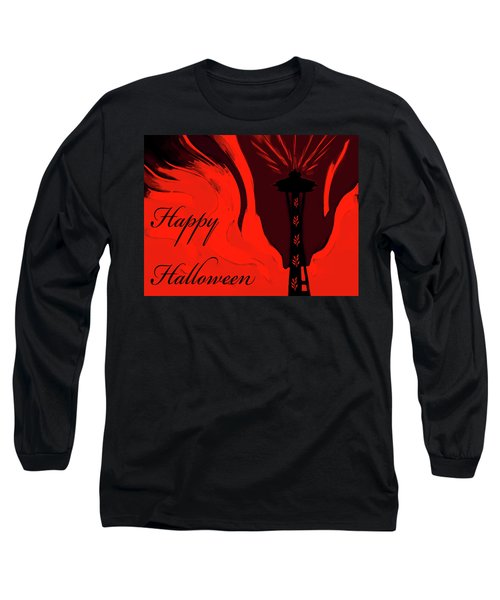 Spooky Seattle Space Needle Long Sleeve T-Shirt
