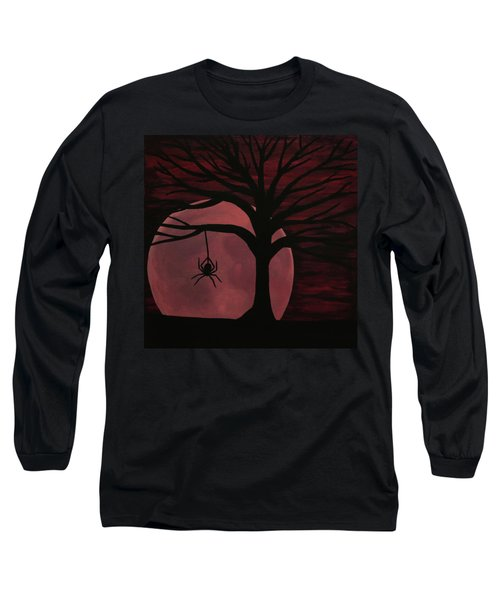 Spooky Spider Tree Long Sleeve T-Shirt