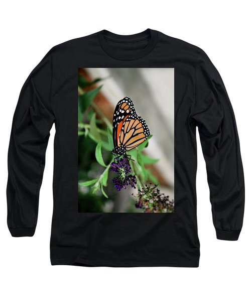 Long Sleeve T-Shirt featuring the photograph Spotted Butterfly by Cathy Harper