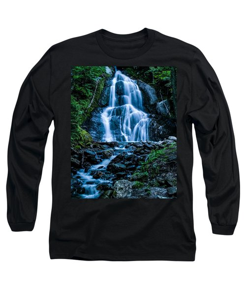 Spring At Moss Glen Falls Long Sleeve T-Shirt