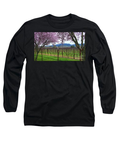 Spring Blossoms Near Calistoga Long Sleeve T-Shirt