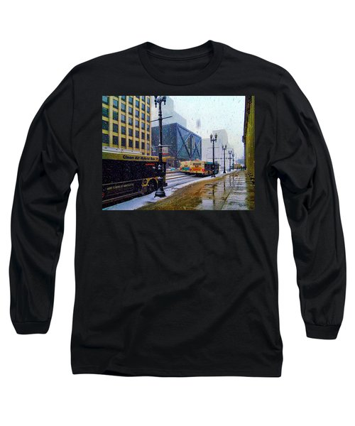 Spring Day In Chicago Long Sleeve T-Shirt by Dave Luebbert