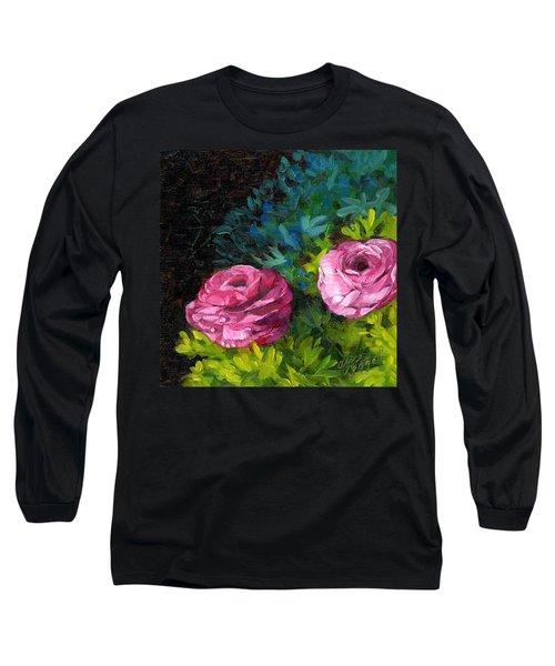 Spring Dewdrops Long Sleeve T-Shirt by Alice Leggett