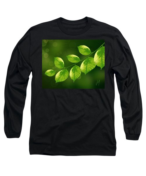 Long Sleeve T-Shirt featuring the painting Spring Life by Veronica Minozzi