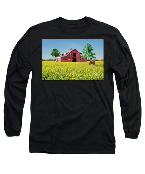 Spring On The Farm Long Sleeve T-Shirt by Bonnie Barry