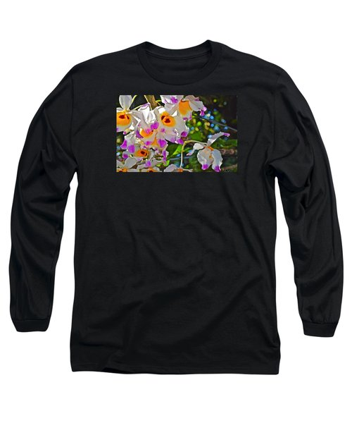 Spring Show 15 Brazilian Orchid Long Sleeve T-Shirt by Janis Nussbaum Senungetuk