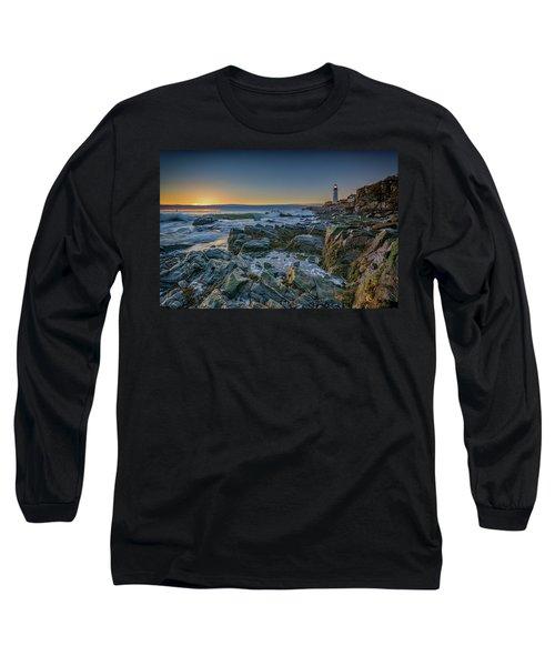 Long Sleeve T-Shirt featuring the photograph Spring Sunrise At Portland Head by Rick Berk