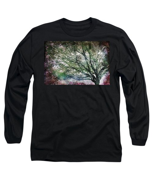Long Sleeve T-Shirt featuring the painting Spring Tree by Gray  Artus