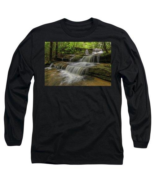 Spring Waterfall. Long Sleeve T-Shirt by Ulrich Burkhalter
