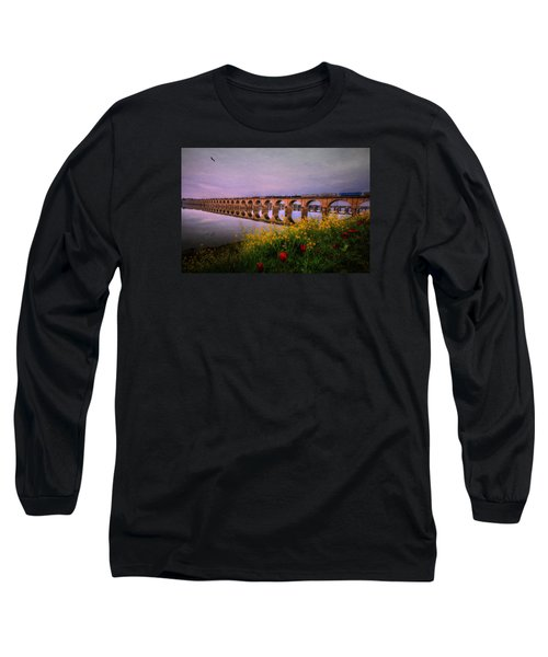Long Sleeve T-Shirt featuring the photograph Springtime Reflections From Shipoke by Shelley Neff