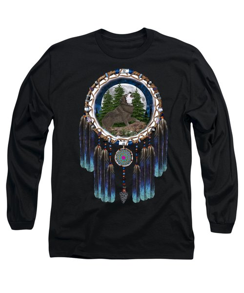 Sprit Of The Wolf Long Sleeve T-Shirt by Walter Colvin