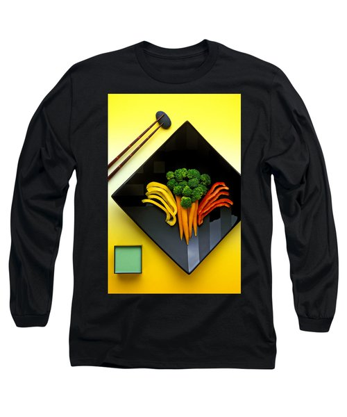 Square Plate Long Sleeve T-Shirt by Garry Gay