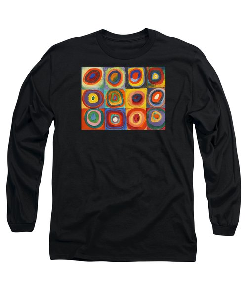 Squares With Concentric Circles Long Sleeve T-Shirt