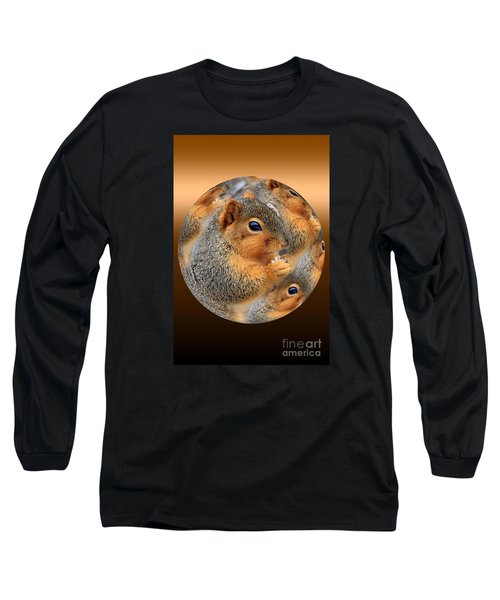 Squirrel In A Ball No.3 Long Sleeve T-Shirt