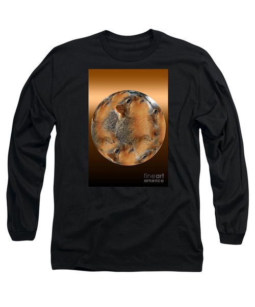 Squirrel In A Ball Long Sleeve T-Shirt