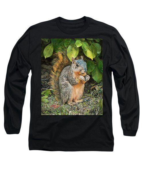 Squirrel Under Bush Long Sleeve T-Shirt