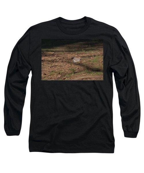 Squirrrrrrel? Long Sleeve T-Shirt by John Rossman