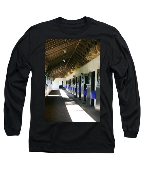Long Sleeve T-Shirt featuring the photograph Stable Ready by Cathy Harper