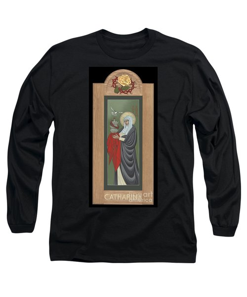 Long Sleeve T-Shirt featuring the painting St Catherine Of Siena With Frame by William Hart McNichols
