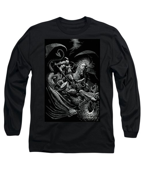 St. George And The Dragon Long Sleeve T-Shirt