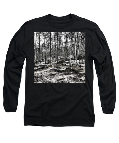 St Lawrence's Wood, Hartshill Hayes Long Sleeve T-Shirt by John Edwards