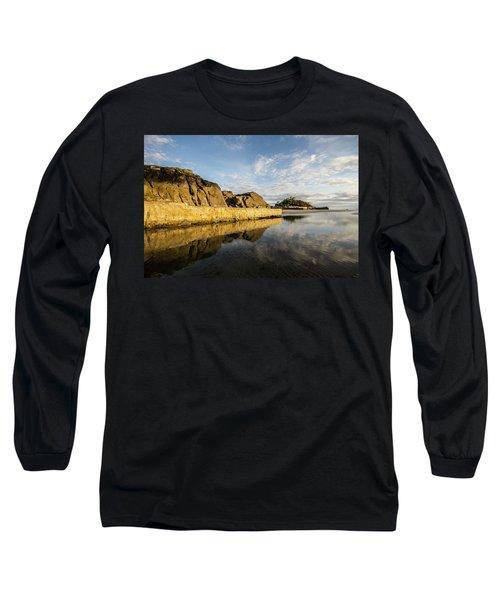 St Michaels Mount Cornwall  Long Sleeve T-Shirt by Ken Brannen