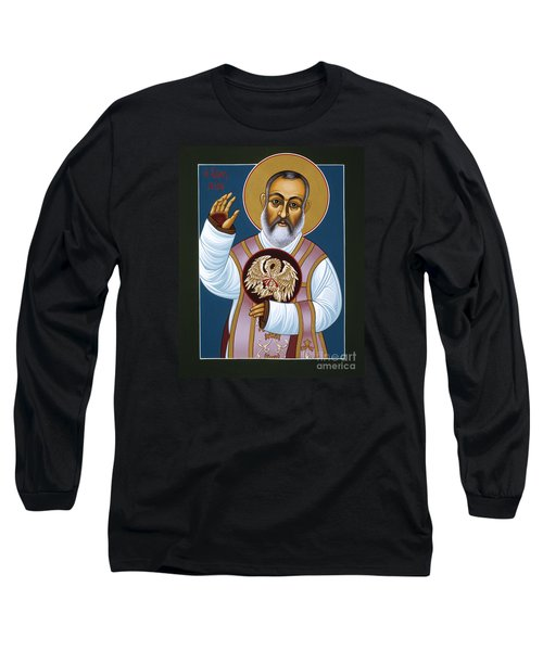 St Padre Pio Mother Pelican 047 Long Sleeve T-Shirt