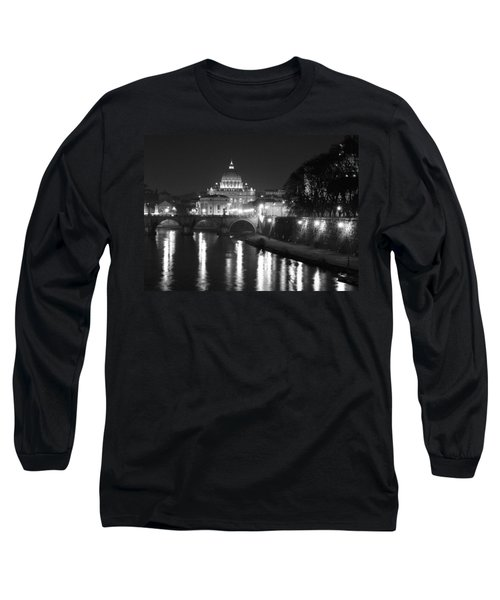 St. Peters At Night Long Sleeve T-Shirt by Donna Corless
